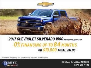 Get the 2017 Chevrolet Silverado 1500 today!