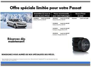 Promotion  spéciale pneus d'hiver pour votre Passat