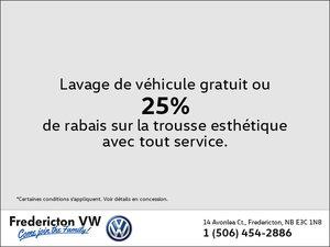 Lavage de véhicule gratuit ou 25% de rabais sur la trousse esthétique
