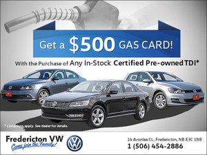Get a $500 Gas Card!