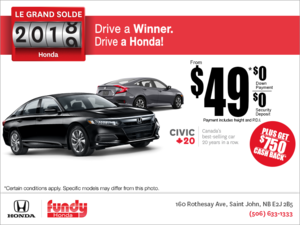 The Honda 2018 model clearout!