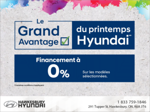 Grand avantage du printemps Hyundai