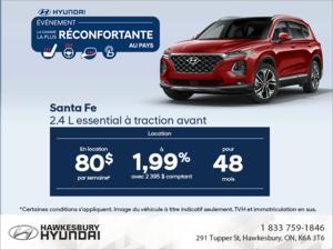 Procurez-vous le Santa Fe 2019