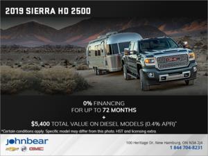 The 2019 GMC Sierra HD 2500