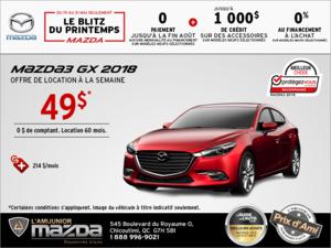 Conduisez la Mazda3 2018 aujourd'hui!