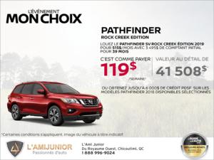 Louez le Nissan Pathfinder 2019 dès aujourd'hui!