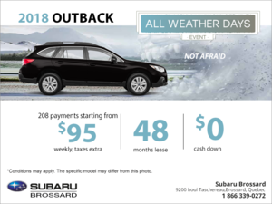 Lease the 2018 Outback today!