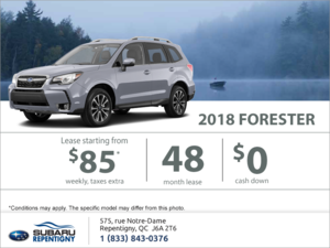 Lease the 2018 Forester today!
