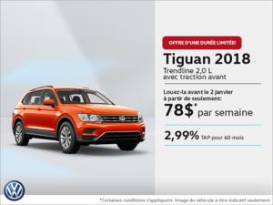Obtenez le Tiguan 2018 dès aujourd'hui!
