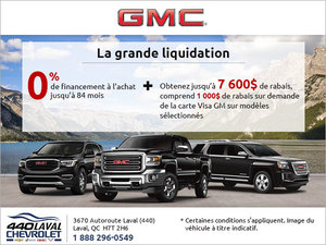 La vente mensuelle de GMC!