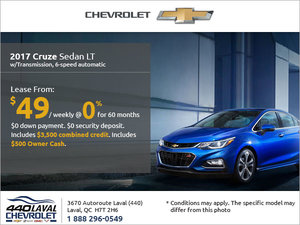 Get the 2017 Chevrolet Cruze Today!