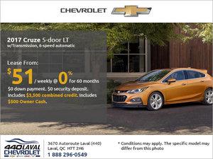 Get the 2017 Chevrolet Cruze 5-door Today!