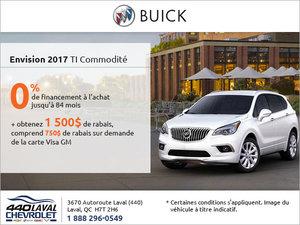 Obtenez le Buick Envision 2017!