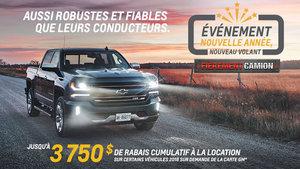 Promotion Chevrolet janvier 2018