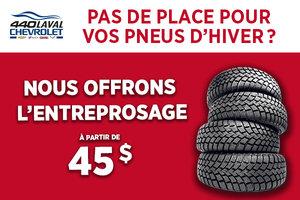 Offre sur l'entreposage de pneu
