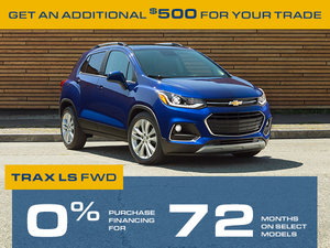Promotion July Chevrolet Trax 2018