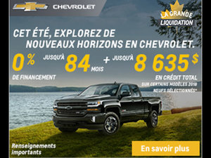 Promotion Chevrolet Août 2018