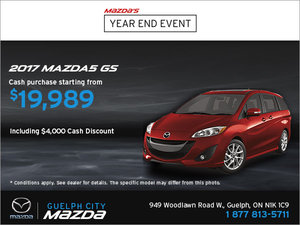 Get the 2017 Mazda5 GS!