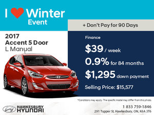 Save on the 2017 Accent 5 Door