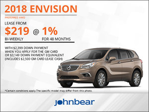 Get the 2018 Buick Envision Today!