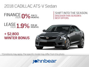 Get the 2018 Cadillac ATS-V Sedan Today!