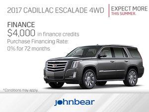 Get the 2017 Cadillac Escalade Today!