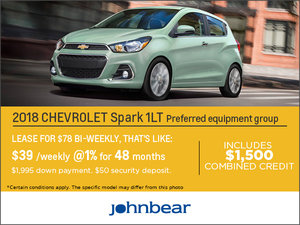 Save on the 2018 Chevrolet Spark!
