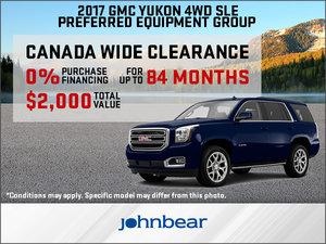 Save Big on the 2017 GMC Yukon