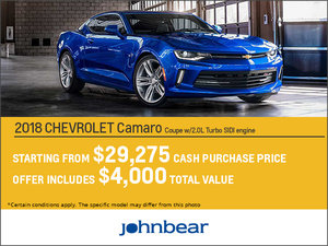 Save Big on the 2018 Camaro!