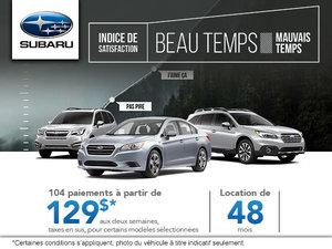 Beau temps / Mauvais temps chez Subaru!