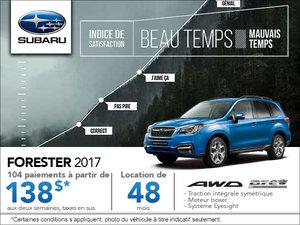 La Subaru Forester 2017 en rabais!