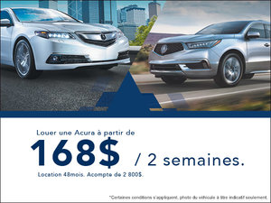 C'est l'événement de vente mensuel chez Acura