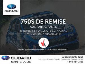 Rabais rallye chez Subaru