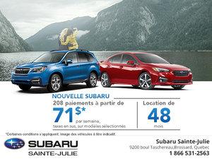 Économisez sur une nouvelle Subaru!