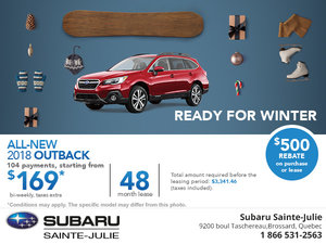 Save on the 2018 Subaru Outback Today!