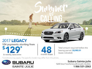 Lease the 2017 Subaru Legacy Today!