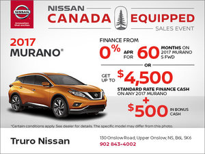 Save on the New 2017 Murano!