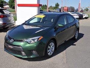 Toyota Corolla LE (Démarreur à distance) SIÈGES CHAUFFANTS 2015