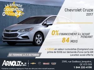 La Chevrolet Cruze 2017 à 0%