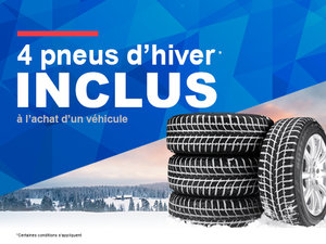 4 pneus d'hiver inclus
