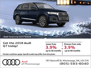 Save on the 2018 Audi Q7!
