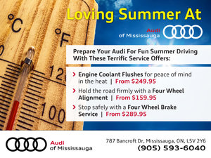 Summer Service Offers From Audi Of Mississauga