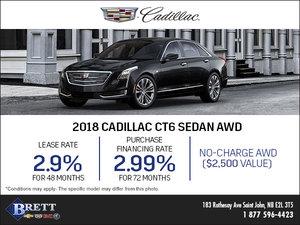 Save on the 2018 Cadillac CT6 Sedan