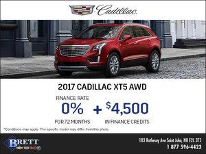 Save on the 2017 Cadillac XT5