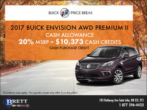 Save on the 2017 Buick Envision