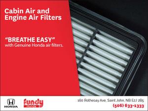 Genuine Honda Air Filters at Fundy Honda