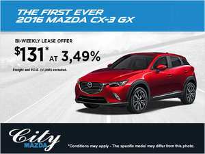 Drive home the 2016 Mazda CX-3 GX!