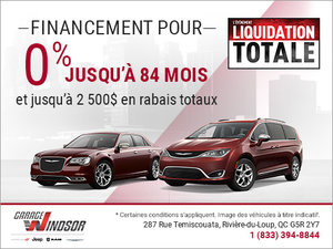 L'événement Liquidation Totale - Chrysler