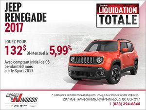 Le Jeep Renegade 2017 à bas prix!