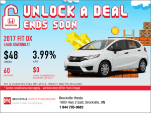 Save on the 2017 Honda Fit Today!